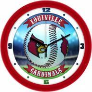 Louisville Cardinals Home Run Wall Clock
