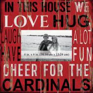 """Louisville Cardinals In This House 10"""" x 10"""" Picture Frame"""