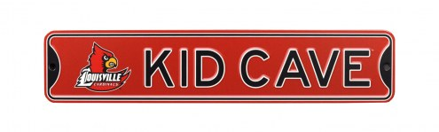 Louisville Cardinals Kid Cave Street Sign