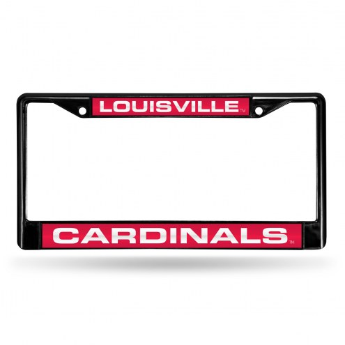 Louisville Cardinals Laser Black License Plate Frame