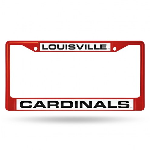 Louisville Cardinals Laser Colored Chrome License Plate Frame