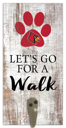 Louisville Cardinals Leash Holder Sign