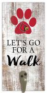 Louisville Cardinals Leash Holder Sign