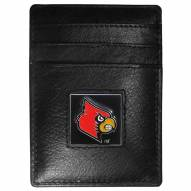 Louisville Cardinals Leather Money Clip/Cardholder in Gift Box