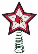 Louisville Cardinals Light Up Art Glass Tree Topper