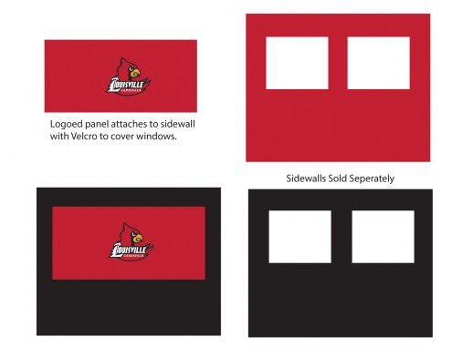 Louisville Cardinals Logo Canopy Sidewall Panel (Attaches to Window Sidewall)