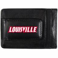 Louisville Cardinals Logo Leather Cash and Cardholder
