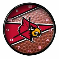 Louisville Cardinals Football Clock