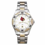 Louisville Cardinals Men's All-Pro Two-Tone Watch