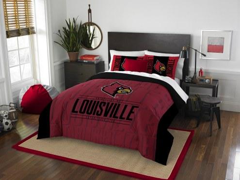 Louisville Cardinals Modern Take Full/Queen Comforter Set