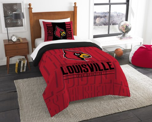 Louisville Cardinals Modern Take Twin Comforter Set