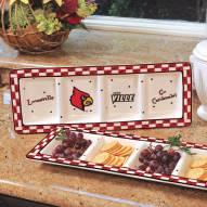 Louisville Cardinals NCAA Ceramic Relish Tray