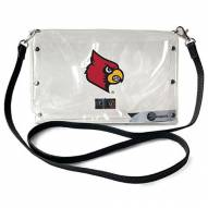 Louisville Cardinals Clear Envelope Purse