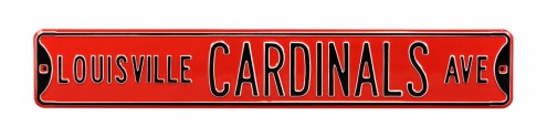 Louisville Cardinals NCAA Embossed Street Sign