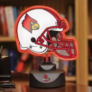 Louisville Cardinals Neon Helmet Desk Lamp