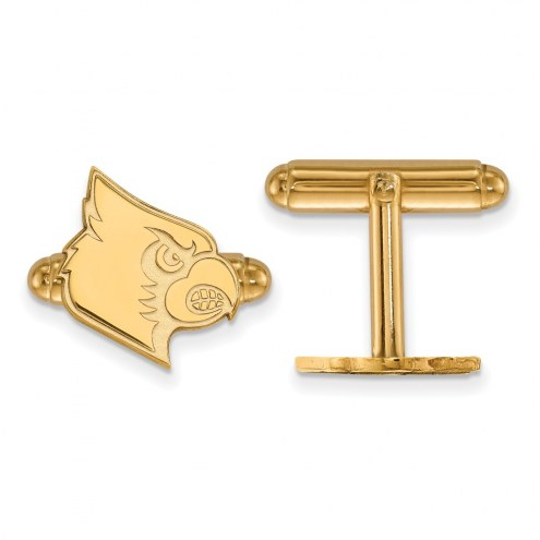 Louisville Cardinals Sterling Silver Gold Plated Cuff Links