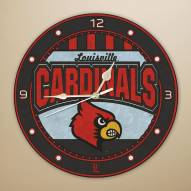 Louisville Cardinals NCAA Stained Glass Wall Clock