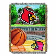 Louisville Cardinals NCAA Woven Tapestry Throw / Blanket