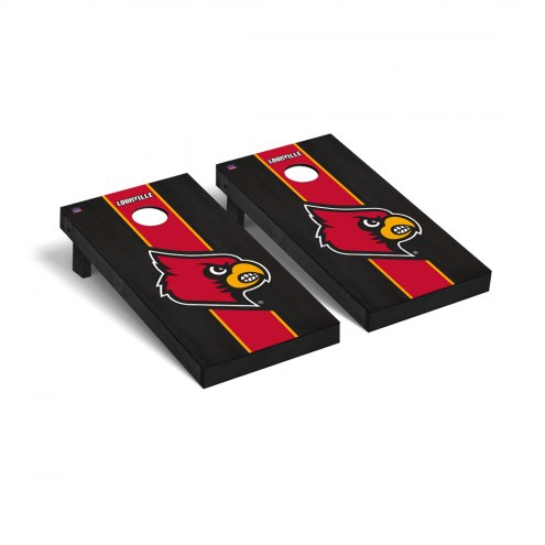 Louisville Cardinals Onyx Stained Cornhole Game Set