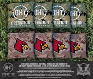 Louisville Cardinals Operation Hat Trick Cornhole Bag Set