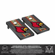 Louisville Cardinals Operation Hat Trick Onyx Stained Cornhole Game Set