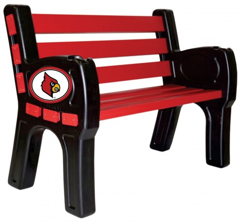 Louisville Cardinals Park Bench
