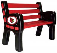 Louisville Cardinals Park Bench