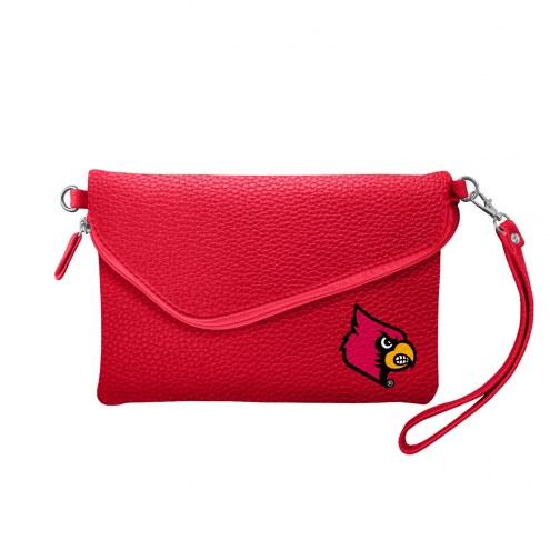 Louisville Cardinals Pebble Fold Over Purse