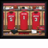 Louisville Cardinals Personalized Basketball Locker Room 11 x 14 Framed Photograph