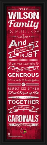 Louisville Cardinals Personalized Family Cheer Framed Art