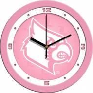 Louisville Cardinals Pink Wall Clock