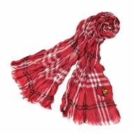Louisville Cardinals Plaid Crinkle Scarf