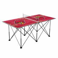 Louisville Cardinals Pop Up 6' Ping Pong Table