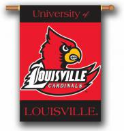 "Louisville Cardinals Premium 28"" x 40"" Two-Sided Banner"
