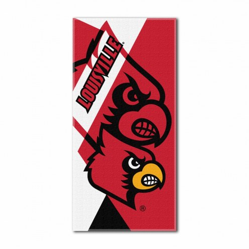 Louisville Cardinals Puzzle Beach Towel
