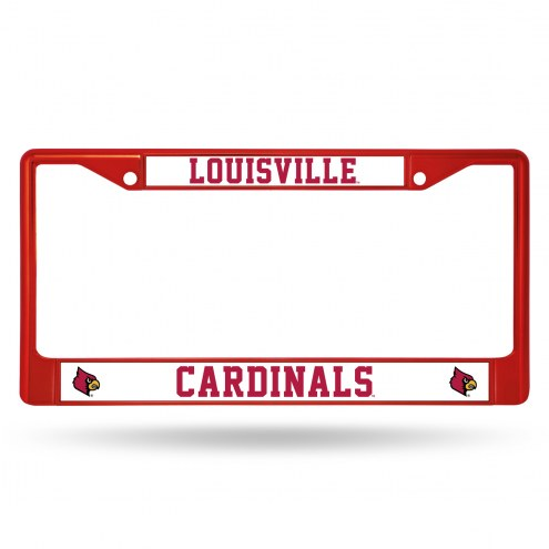 Louisville Cardinals Red Colored Chrome License Plate Frame