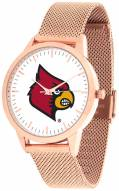 Louisville Cardinals Rose Mesh Statement Watch