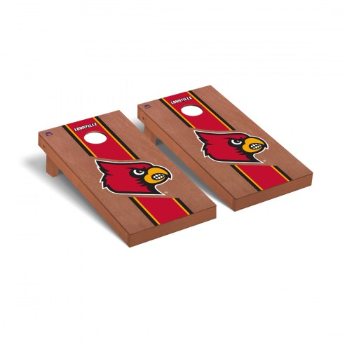 Louisville Cardinals Rosewood Stained Cornhole Game Set