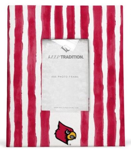 Louisville Cardinals School Stripes Picture Frame