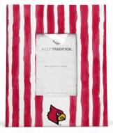 Louisville Cardinals School Stripes Picture Frame