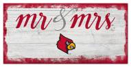 Louisville Cardinals Script Mr. & Mrs. Sign