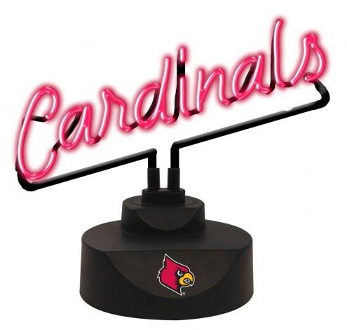 Louisville Cardinals Script Neon Desk Lamp