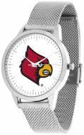 Louisville Cardinals Silver Mesh Statement Watch