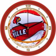 Louisville Cardinals Slam Dunk Wall Clock