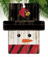 Louisville Cardinals Snowman Ornament