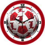 Louisville Cardinals Soccer Wall Clock