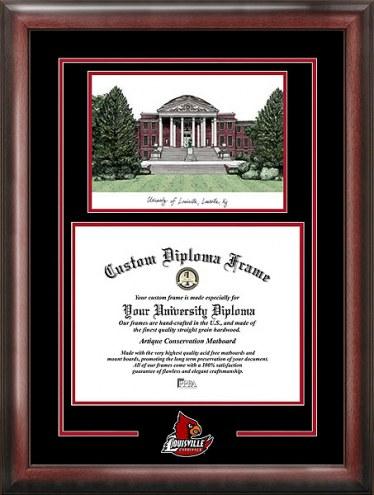 Louisville Cardinals Spirit Diploma Frame with Campus Image