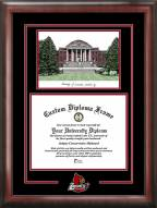 Louisville Cardinals Spirit Diploma Frame with Campus Image