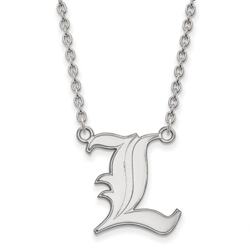 Louisville Cardinals Sterling Silver Large Pendant Necklace