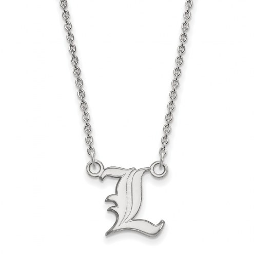 Louisville Cardinals Sterling Silver Small Pendant Necklace